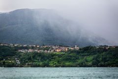 Stormy Weather by an Alpine Lake Royalty Free Stock Image