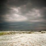 Stormy weather, Atlantic ocean stock photo