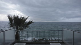Stormy Weather Balcony stock video