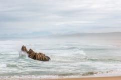 Stormy weather at a beach near Buffelsbaai Royalty Free Stock Photo