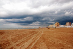 Stormy weather in Cadiz Stock Photography