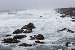 Stormy Weather and California Coastline at Point Reyes Royalty Free Stock Image