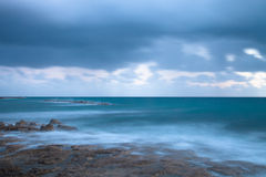 Stormy weather on the coast. Long exposure Royalty Free Stock Images