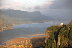 Stormy weather in the Columbia Gorge OR Royalty Free Stock Photo