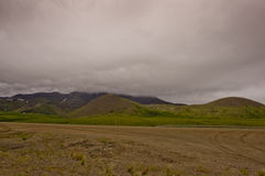 Stormy weather on the Dempster Highway Royalty Free Stock Photography