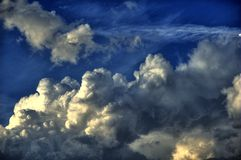 Stormy Weather HDR. (High Dynamic Range) Photography. HDR Cloudscape Background. Weather Photos Collection stock images