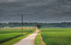 Stormy weather in Indiana state Stock Photo