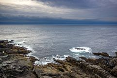 Stormy weather in Ireland. A view across the atlantic ocean from Malin Head, Ireland Stock Images