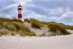 Stormy Weather - Lighthouse on the island Sylt Royalty Free Stock Photography