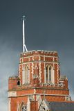 Stormy weather in London. Threatening sky over St Thomas a Becket Catholic Church in Wandsworth Stock Photography