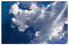 Stormy Weather. Looking at story weather thru a window Royalty Free Stock Image