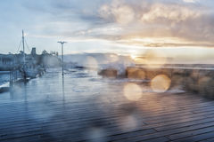 Stormy weather on Mornington Pier Royalty Free Stock Photography