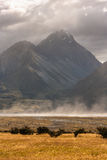 Stormy weather at Mount Cook National Park Royalty Free Stock Photo