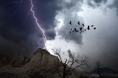 Stormy weather in mountains Stock Photography
