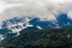 Stormy weather in mountains Royalty Free Stock Photo