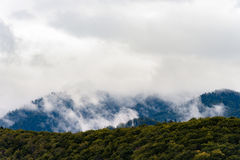 Stormy weather in mountains Royalty Free Stock Image