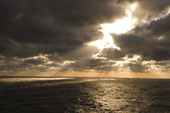 Stormy Weather and Ocean. The Atlantic Ocean and overcast weather Stock Image