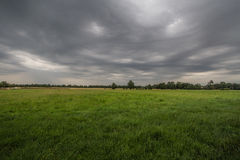 Stormy weather over the clearing. Storm clouds over the clearing Royalty Free Stock Photo