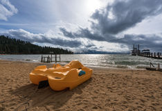 Stormy weather over Lake Tahoe, Nevada stock photo