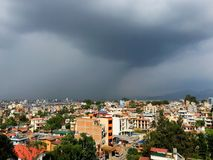 Stormy weather over Patan and Kathmandu Royalty Free Stock Images