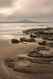 Stormy weather over Takapuna beach Stock Image