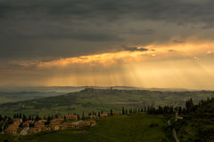 Stormy weather over Tuscany Royalty Free Stock Images