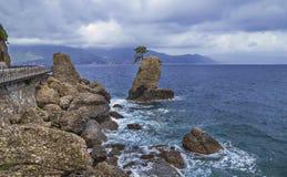 Stormy weather at Portofino, Italy Royalty Free Stock Photos