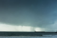 Stormy weather on sea Stock Image