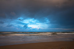 Stormy Weather on Sea. Stormy weather on beach on Black Sea. Anapa, Russia royalty free stock photos