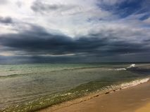 Stormy weather at the sea Royalty Free Stock Photo