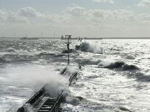 Stormy weather at sea, Holland Stock Photo