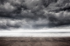 Stormy weather by the sea Stock Photo