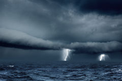 Stormy weather in sea Royalty Free Stock Photo