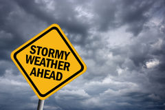 Stormy weather sign Stock Image