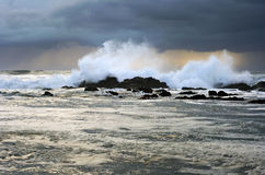 Stormy weather at sunset royalty free stock photo