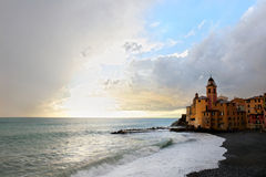 Stormy weather to Camogli, italy Royalty Free Stock Image