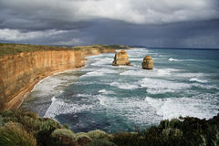 Stormy weather at the Twelve Apostles. Australia Stock Photo