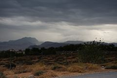 Stormy weather in the UAE Desert royalty free stock photos