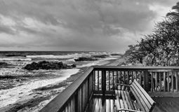 Stormy Winter Day in Deerfield Beach, Florida. It`s not a great day to be outdoors on a stormy winter morning in Deerfield Beach, Broward County, in southeast royalty free stock photo