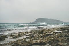 Stormy winter day at Mediterranean sea coast in Alanya, Turkey. Stormy winter day at Mediterranean sea coast in Alanya, Mediterranean region, Turkey Royalty Free Stock Photo