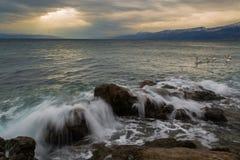 Stormy Winter Sea Stock Image