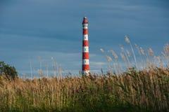 Storojensky lighthouse on the Ladojskoe lake Royalty Free Stock Images