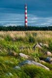 Storojensky lighthouse on the Ladojskoe lake Stock Photo