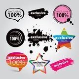 Icons exclusive Royalty Free Stock Photography