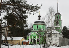 Storozhi的令人尊敬的圣徒Sabbas的教会 Balashikha,区Zarya,莫斯科地区 免版税库存照片