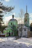Storozhi的令人尊敬的圣徒Sabbas的教会 Balashikha,区Zarya,莫斯科地区 库存图片
