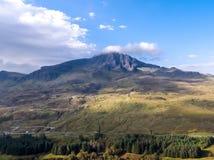 Storr的老人的鸟瞰图在秋天-斯凯,苏格兰小岛  免版税图库摄影