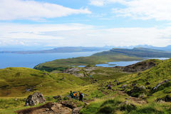 Storr的老人,斯凯岛小岛在苏格兰 免版税图库摄影