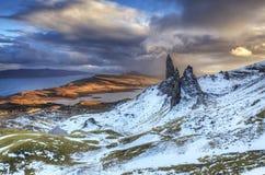 Storr的老人,斯凯岛苏格兰小岛  免版税库存照片