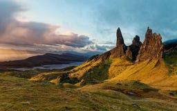 Storr,苏格兰高地的老人 库存照片